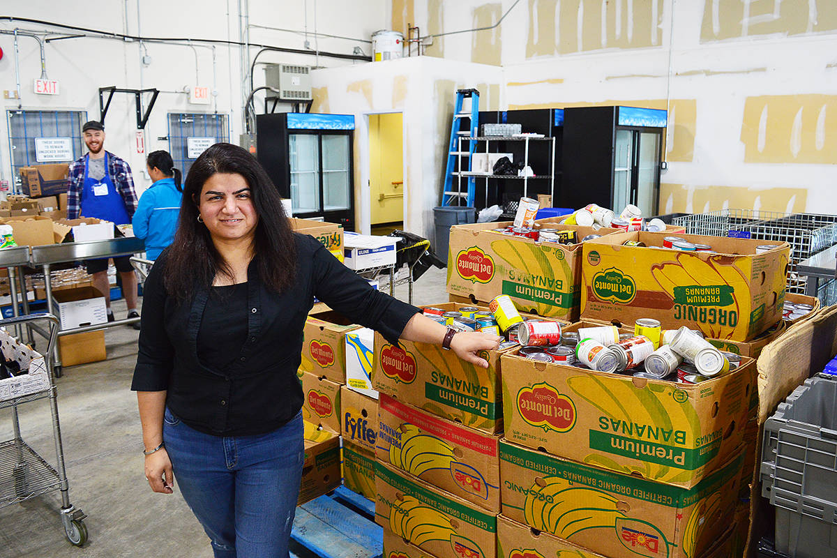 Surrey Food Bank executive director Feezah Jaffer at the organization's new home in Newton on Monday, July 6. (Photo: Tom Zillich)