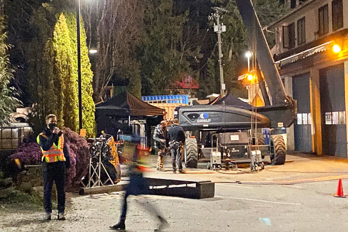 The 10-part Netflix series Maid, which is being exclusively shot in Greater Victoria, was filming near Prospect Lake in Saanich last month. (Photo courtesy Fred Haynes)